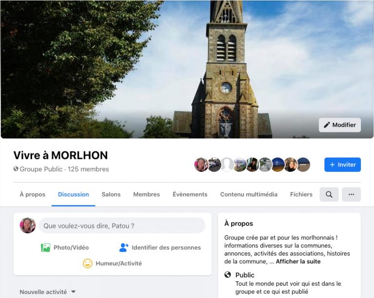 Page facebook de Morlhon Le Haut