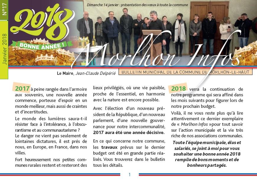 Bulletin municipal de Morlhon Le Haut 17
