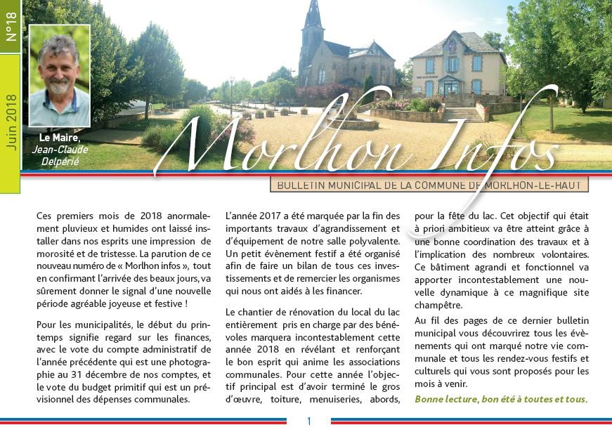 Bulletin municipal de Morlhon Le Haut 18