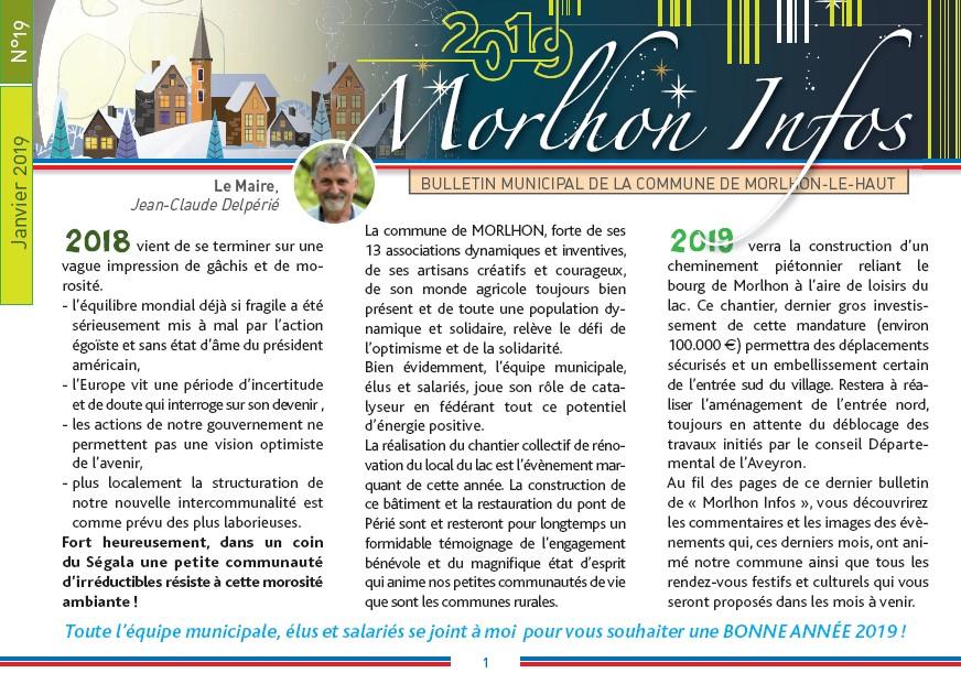 Bulletin municipal de Morlhon Le Haut 19
