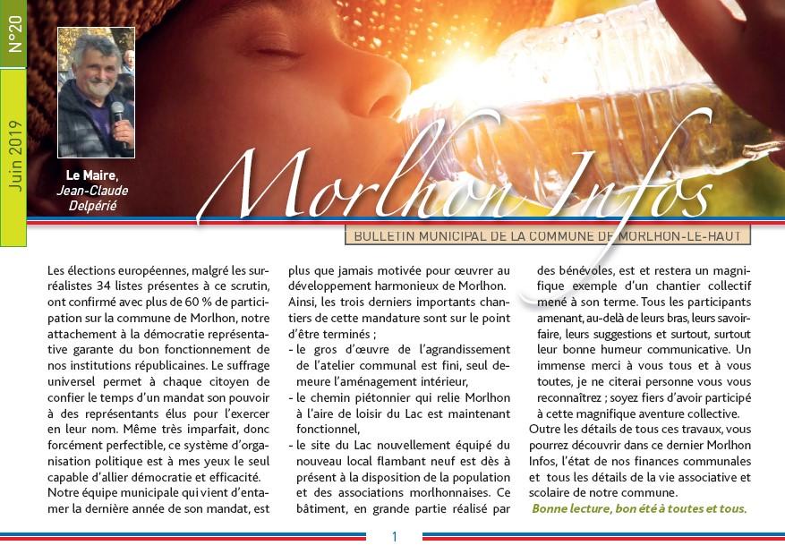 Bulletin municipal de Morlhon Le Haut 20