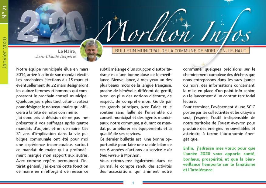 Bulletin municipal de Morlhon Le Haut 21