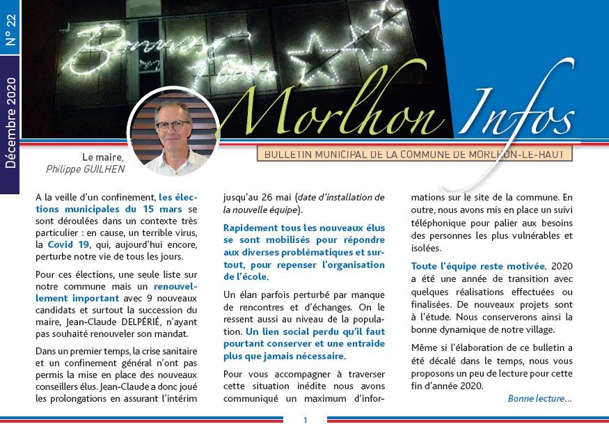 Bulletin municipal de Morlhon Le Haut 22
