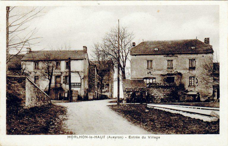 Morlhon Le Haut entrée du village autrefois