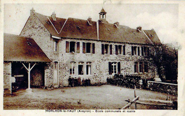 Morlhon Le Haut école communale autrefois