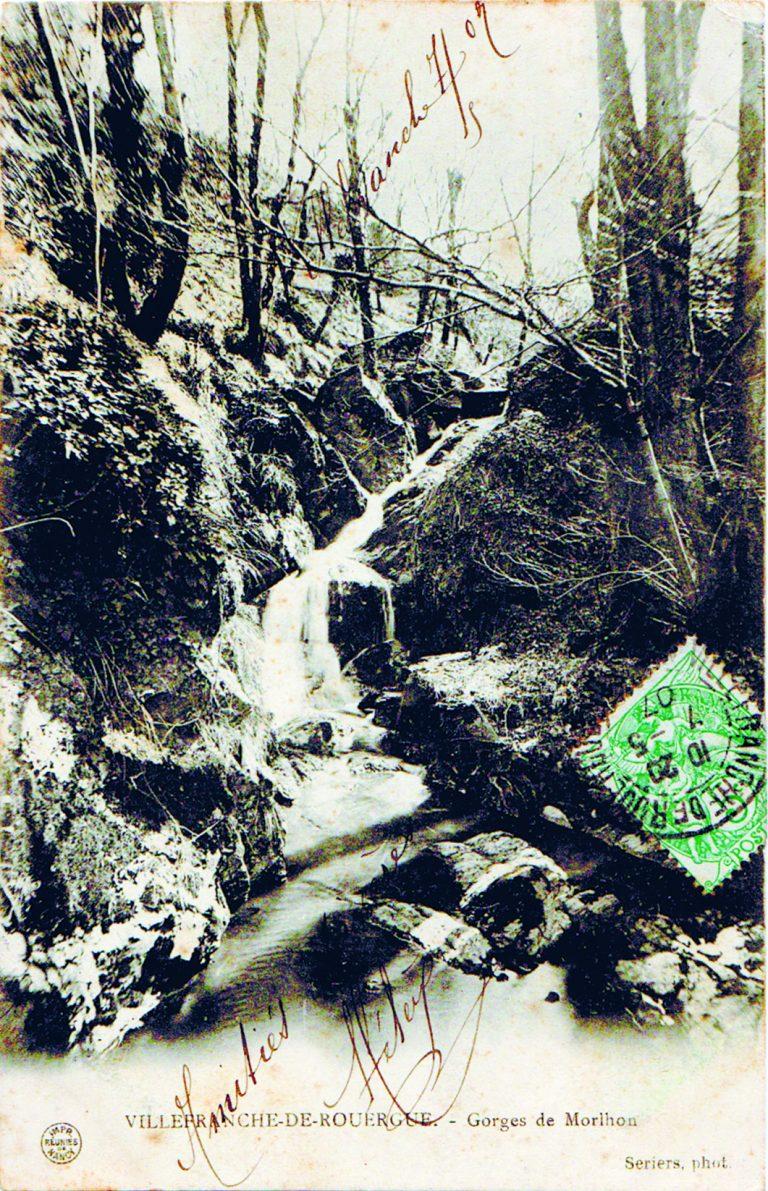 Les gorges de Morlhon ruisseau autrefois