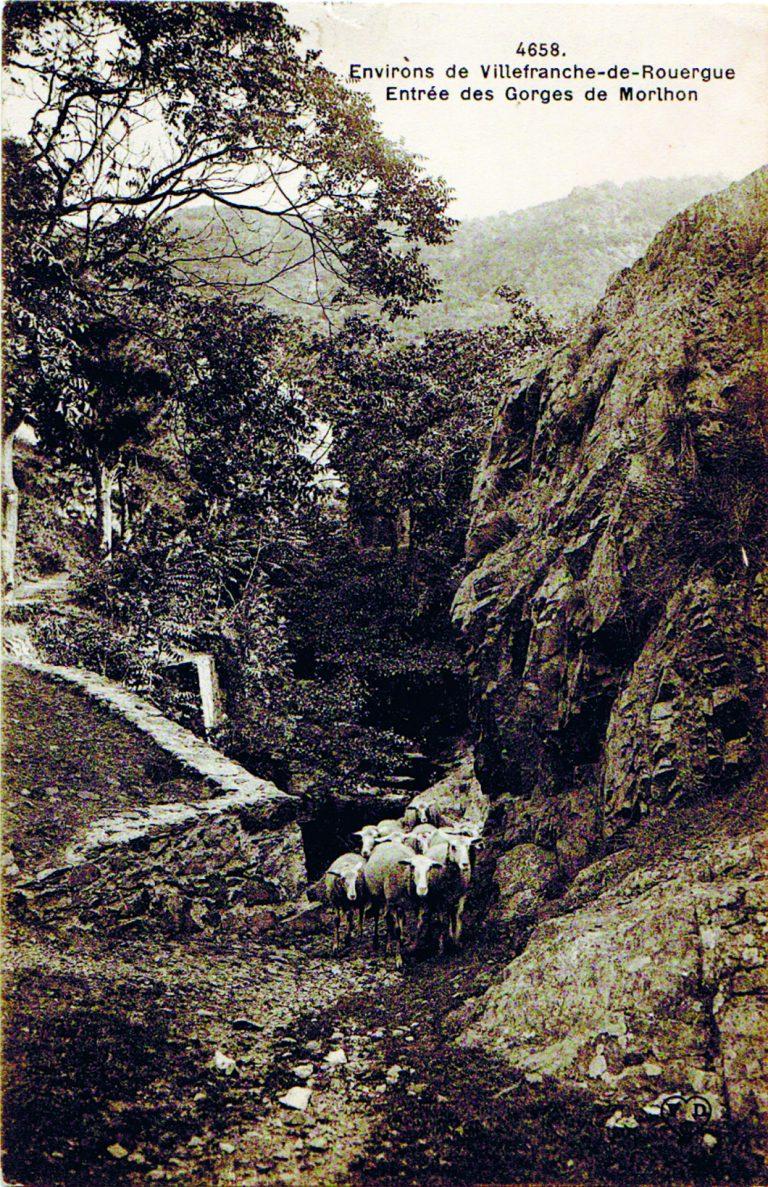 Les gorges de Morlhon autrefois