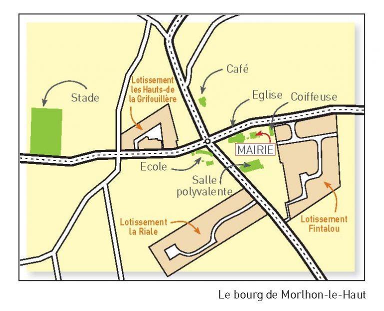 Plan du bourg de Morlhon-le-Haut